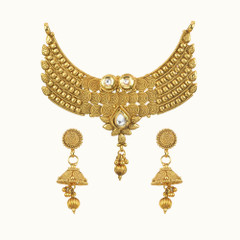Amazing Gold Plated Kundan Work Mangal Sutra Set1174