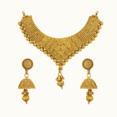 Amazing Gold Plated Heart Shape Mangal Sutra Set1177