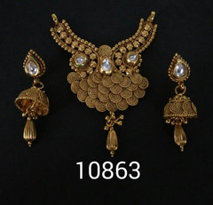 Amazing Gold Plated Kundan Work Mangal Sutra Set1179
