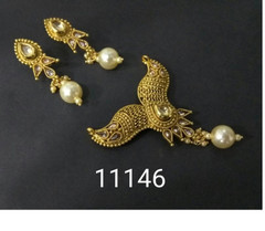 Amazing Gold Plated Designer Mangal Sutra Set1185