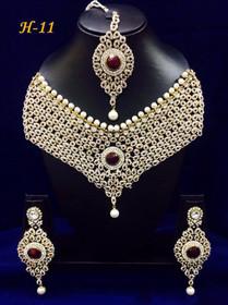 Amazing Heavy Stone work Necklace Set1584