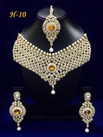 Amazing Heavy Stone work Necklace Set1585