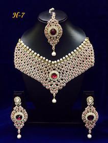 Amazing Heavy Stone work Necklace Set1587