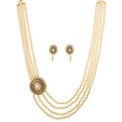 Stunning Gold Plated Minakari Locket Work Necklace Set1922