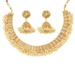 Stunning Gold Plated Breathless Necklace Set1924