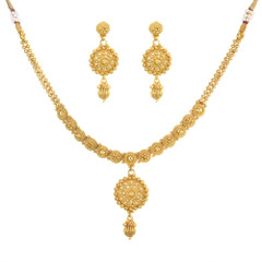 Stunning Gold Plated Necklace Set1927
