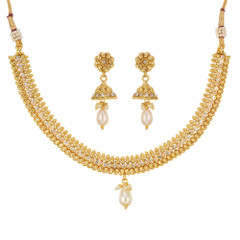 Stunning Gold Plated Royal Style Necklace Set1929