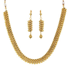 Stunning Gold Plated Necklace Set1931