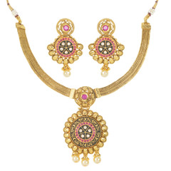 Stunning Gold Plated Necklace Set1932