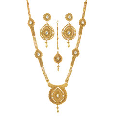 Stunning Gold Plated Bridal Wear Necklace Set1933
