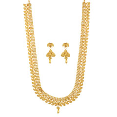 Stunning Gold Plated South Indian Necklace Set1934