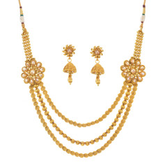 Stunning Gold Plated Necklace Set1935