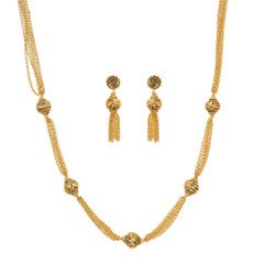 Stunning Gold Plated Necklace Set1937