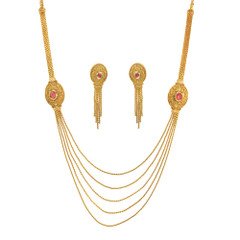 Stunning Gold Plated Necklace Set1938