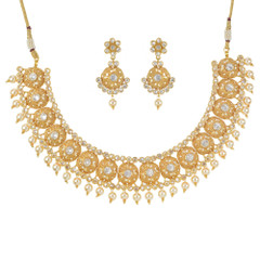 Stunning Gold Plated Necklace Set1940