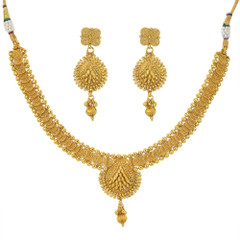 Stunning Gold Plated Necklace Set1941