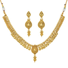 Stunning Gold Plated Necklace Set1943