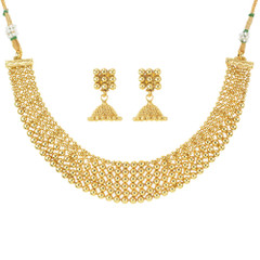 Stunning Gold Plated Necklace Set1944