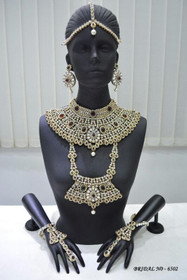 Stunning Heavy Stone & Pearl Work Bridal Necklace Set1950