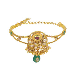 Stunning Gold Plated Multi Stone workArmlets2016