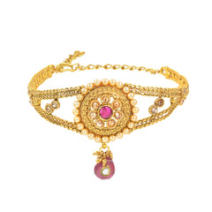Stunning Gold Plated Pearl & Stone work Armlets2020