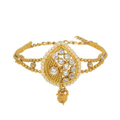 Stunning Gold Plated Pearl & Stone work Armlets2022