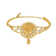 Stunning Gold Plated Pearl & Stone work Armlets2025