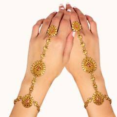 Stunning Gold Plated Hand Cuffs1995