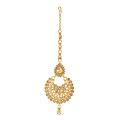 Stunning Gold Plated Jhumar Style Maang Tikka1981