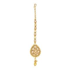 Stunning Gold Plated Girlish Style Maang Tikka1984