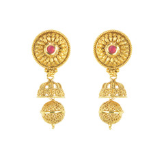 Stunning Gold Plated Stoen Work Earrings2003