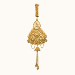 Stunning Gold Plated Saree Key Chain1961