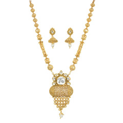 Stunning Gold Plated Designer Necklace Set2038