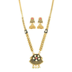 Stunning Gold Plated Minakari Work Necklace Set2042