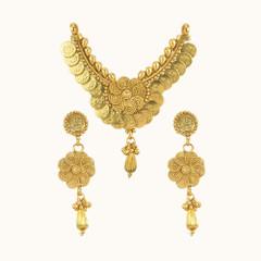 Stunning Ginny Work Gold Plated Mangal Sutra Set1972