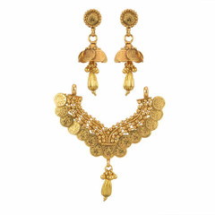 Stunning Heart Shape Gold Plated Mangal Sutra Set1973