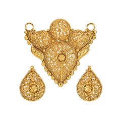 Stunning Gold Plated Mangal Sutra Set1975