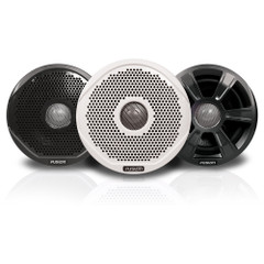"FUSION FR6022 6"" Round 2-Way IPX65 Marine Speakers - 200W - Pair w\/3 Speaker Grilles Provided [010-01848-00]"