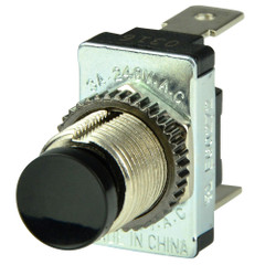 BEP Black SPST Momentary Contact Switch - OFF\/(ON) [1001402]