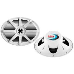 """Boss Audio MR692W 6"""" x 9"""" 2-Way 350W Marine Full Range Speaker - White - Pair [MR692W]"""