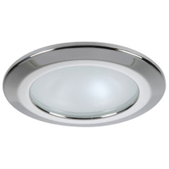 Quick Kor XP Downlight LED - 4W, IP66, Spring Mounted - Round Stainless Bezel, Round Warm White Light [FAMP3252X02CA00]