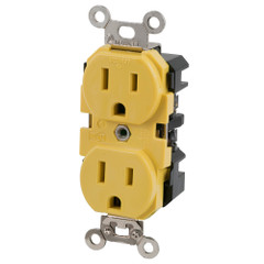 Marinco 15A 125V Yellow Duplex Straight Blade Receptacle [5262CRR]