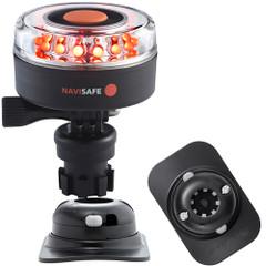 Navisafe Navilight All RED 360 2NM w\/Navimount Base  RIB Mount - Black [045KIT2]