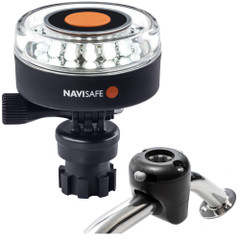 Navisafe Navilight 360 2NM White w\/Navimount Base  Rail Mount - Black [040KIT]