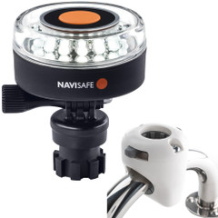 Navisafe Navilight 360 2NM White w\/Navimount Base  Rail Mount - White [040KIT3]