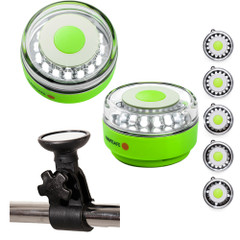 Navisafe Portable Navilight 360 2NM Rescue - Glow in The Dark - Green w\/Clamp-On Rail Mount [010KIT]