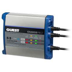 Guest On-Board Battery Charger 10A \/ 12V - 2 Bank - 120V Input [2711A]