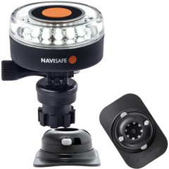 Navisafe Navilight 360 2NM White w\/Navimount Base  RIB Mount - Black [040KIT2]