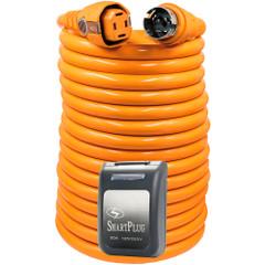 SmartPlug 50 Amp 50 Dual Configuration Cordset w\/Marina Twist-Type Connector  50 Amp Non-Metallic Inlet - Black [C50504BM50PB]