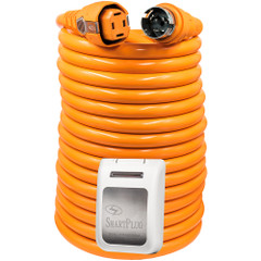 SmartPlug 50 Amp 50 Dual Configuration Cordset w\/Marina Twist-Type Connector  50 Amp Non-Metallic Inlet - White [C50504BM50PW]